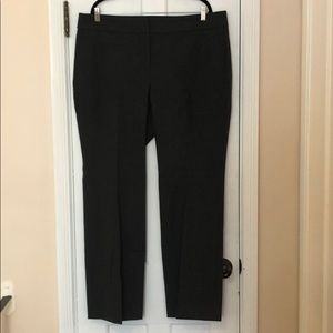 JCrew charcoal trousers Size 18 NEW Stretch